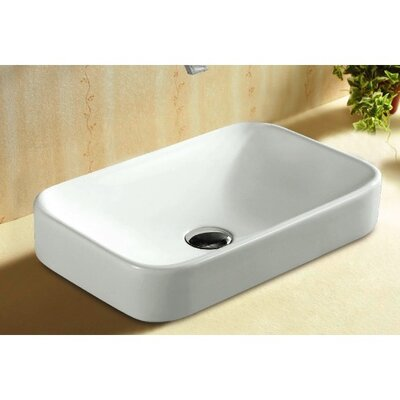 Ceramica Ceramic Rectangular Drop-In Bathroom Sink