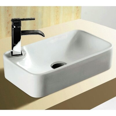 Ceramica Rectangular Vessel Bathroom Sink
