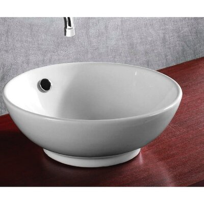 Ceramica Ceramic Circular Vessel Bathroom Sink
