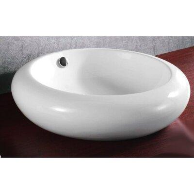 Ceramica Ceramic Circular Vessel Bathroom Sink with Overflow