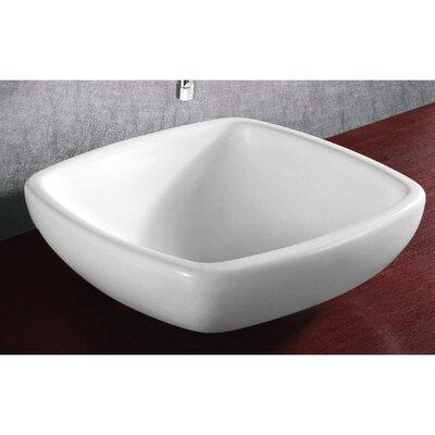 Ceramica Ceramic Square Vessel Bathroom Sink