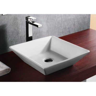 Ceramica Ceramic Square Vessel Bathroom Sink