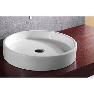 Ceramica Ceramic Circular Vessel Bathroom Sink