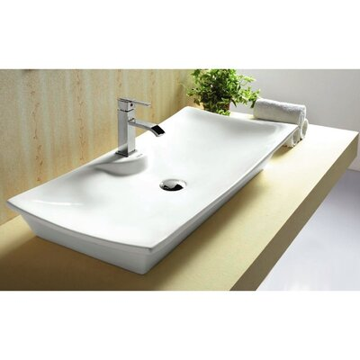 Ceramica Ceramic Rectangular Vessel Bathroom Sink