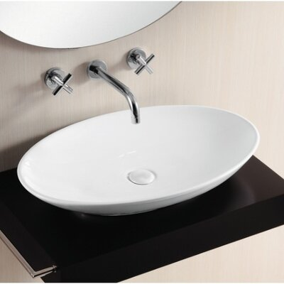 Ceramica II Oval Vessel Bathroom Sink