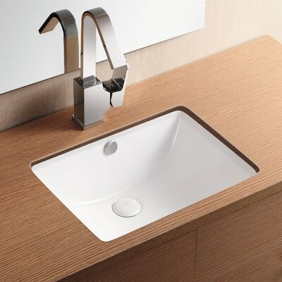 Ceramica II Rectangular Undermount Bathroom Sink with Overflow