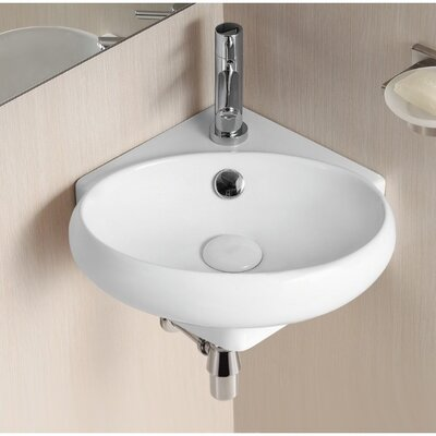 Ceramica II 15 Wall Mounted Bathroom Sink with Overflow
