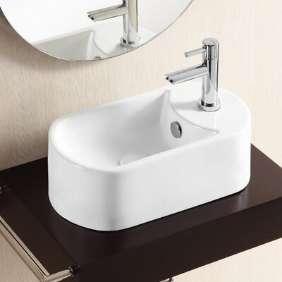 Ceramica II Specialty Vessel Bathroom Sink with Overflow