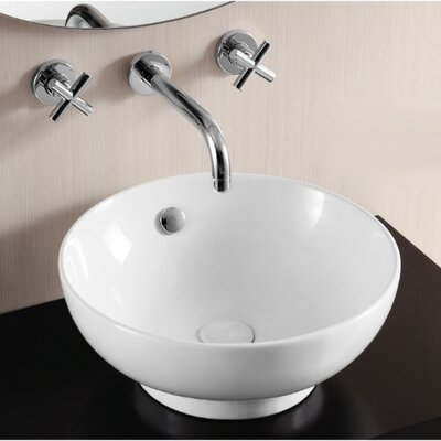 Ceramica II Circular Vessel Bathroom Sink