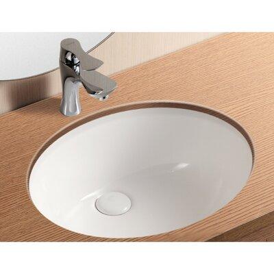 Ceramica II Oval Undermount Bathroom Sink with Overflow