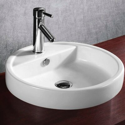 Ceramica Ceramic Circular Drop-In Bathroom Sink