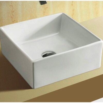Ceramica Rectangular Ceramic Vessel Bathroom Sink