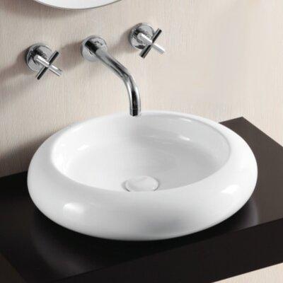 Ceramica II Ceramic Circular Vessel Bathroom Sink