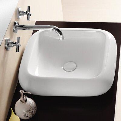 Ceramica II Ceramic Square Vessel Bathroom Sink