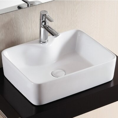 Ceramica II Rectangular Vessel Bathroom Sink