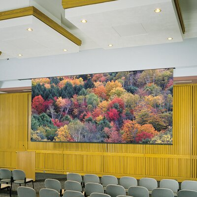 """Matte White Electric Projector Screen Viewing Area: 96"""" H X 120"""" W"""