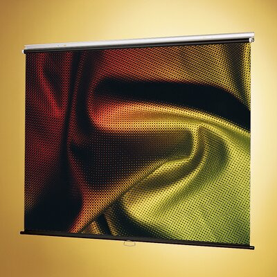 """Matte White Manual Projection Screen Viewing Area: 52"""" H X 70"""" W"""