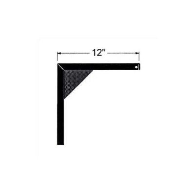 """12"""" Non-adjustable Screen Mounting Brackets (pair)"""