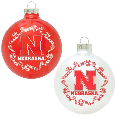 Topperscot NCAA Home and Away Ornament (Set of 2) - NCAA Team: Nebraska Cornhuskers