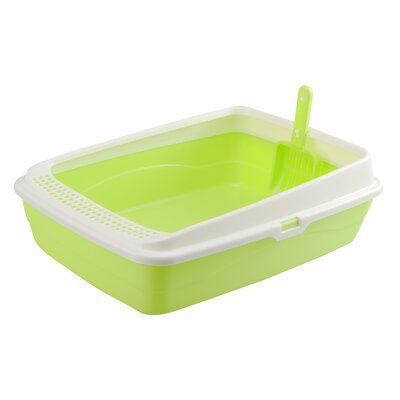 Leaf Standard Litter Box Color: Green