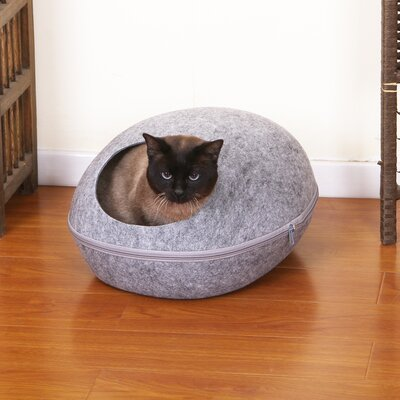 Pet Bed with Removable Cover Color: Gray