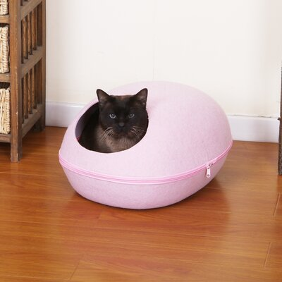 Pet Bed with Removable Cover Color: Pink