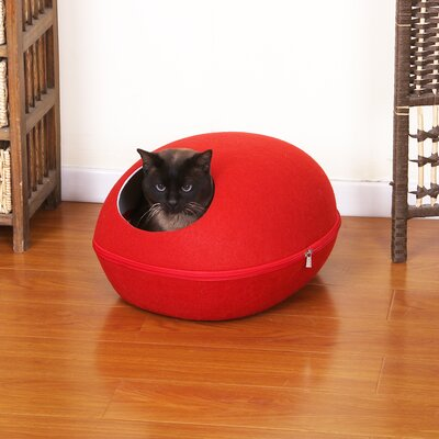 Pet Bed with Removable Cover Color: Red