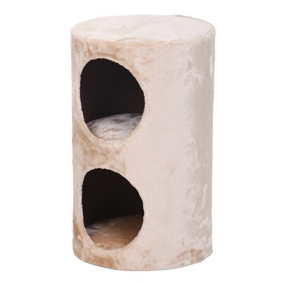 20 Purr 2 Story Fleece Hideaway Cat Condo