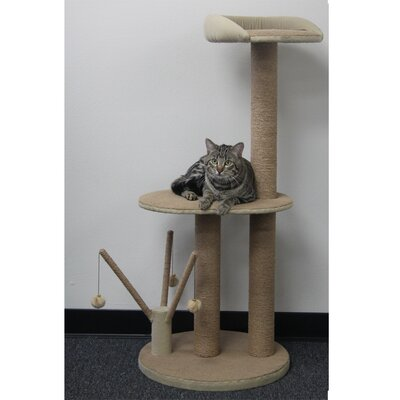46 Cat Tree with Multiple Teasers and Sisal Posts