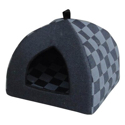 Checkered Cat Bed Color: Blue