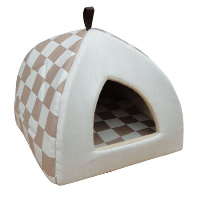 Checkered Cat Bed Color: Beige