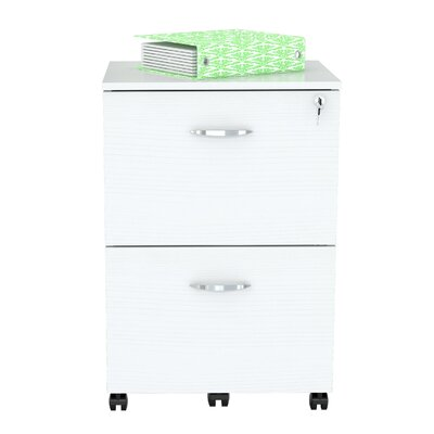 2 Drawer Mobile Vertical Filing Cabinet AR-2X2-RB