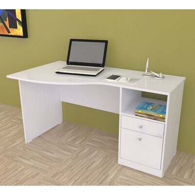 Inval Laura Curved Computer Desk with Shelf (2 Pieces) at Sears.com