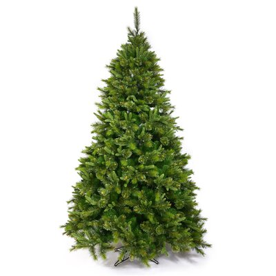 9.5' Cashmere Potted & Non Potted Christmas Tree with 1000 LED Multi Colored Dura-Lit Lights with Stand