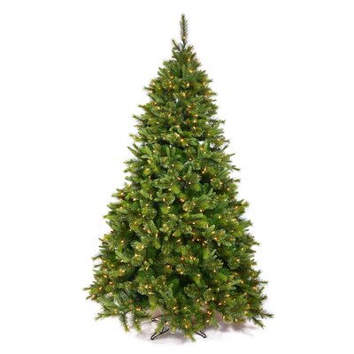 Cashmere Potted and Non Potted 6.5' Green Artificial Christmas Tree with 450 Dura-Lit Clear Lights with Stand