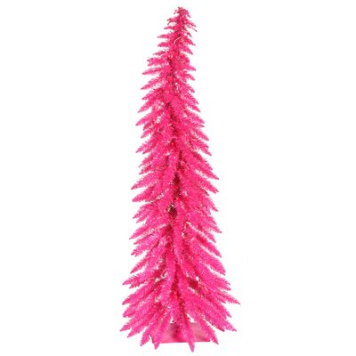 Colorful 5' Pink Artificial Christmas Tree with 100 Single Colored Lights