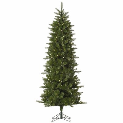Vickerman Carolina Pencil 7.5' Green Spruce Artificial Christmas Tree with 450 LED White Lights
