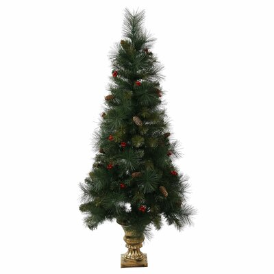 4' Pine Berry Cone Potted Artificial Christmas Tree