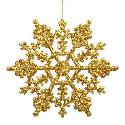 "Glitter Snowflake Christmas Ornament Size: 8"" W x 8"" D, Color: Green Kiwi M101613"