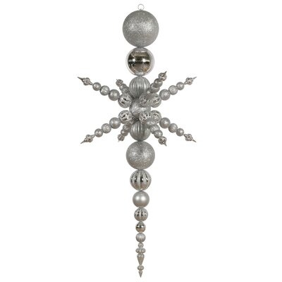 6.3' Vickerman N103707 Snowflakes - Silver