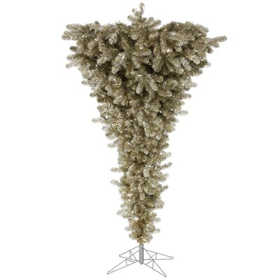 Colorful Upside Down 7.5' White Artificial Christmas Tree