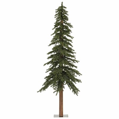 Vickerman Natural Alpine 8' Green Artificial Christmas Tree with Unlit