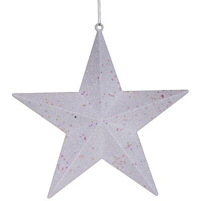 Star Glitter Christmas Ornament Color: White