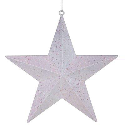 Glitter Star Christmas Ornament Color: White