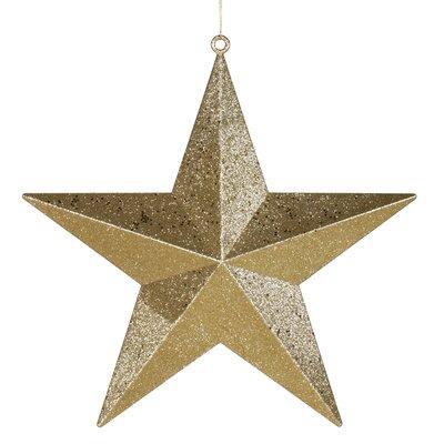 Glitter Star Christmas Ornament Color: Gold