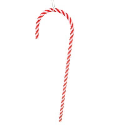 Striped Candy Cane Christmas Ornament Color: Red/White