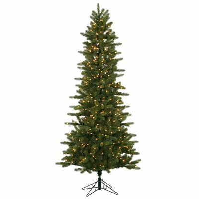 Vickerman 5.5' Kennedy Fir Slim Christmas Tree with 300 LED Clear Dura-Lit Lights with Stand