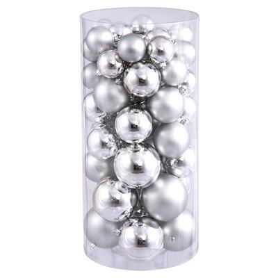 Shiny Christmas Ornament Color: Silver