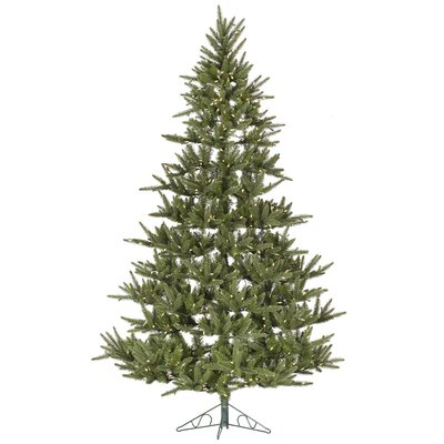 Vickerman Berkshire 7.5' Green Fir Artificial Christmas Tree with 500 LED White Lights