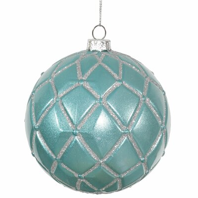 Candy Glitter Net Ball Christmas Ornament Color: Teal